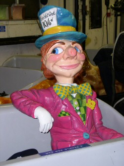 Photo - Mad Hatter figure on the Alice in Wonderland ride at Blackpool Pleasure Beach